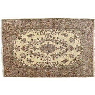 "1920s French Provincial Kirman Gallery Rug - 11'6"" X 17'10"" For Sale"