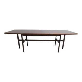 Vintage Danish Modern Walnut Surfboard Dining Table
