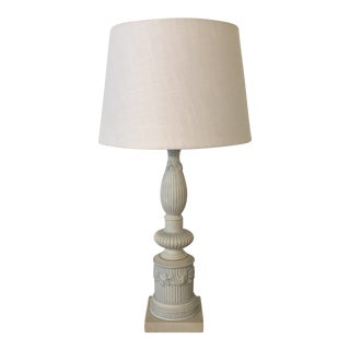 Antique Bisque Lamp on Marble Base For Sale