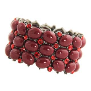 Joan Rivers Red Cabochon Stretch Bracelet For Sale