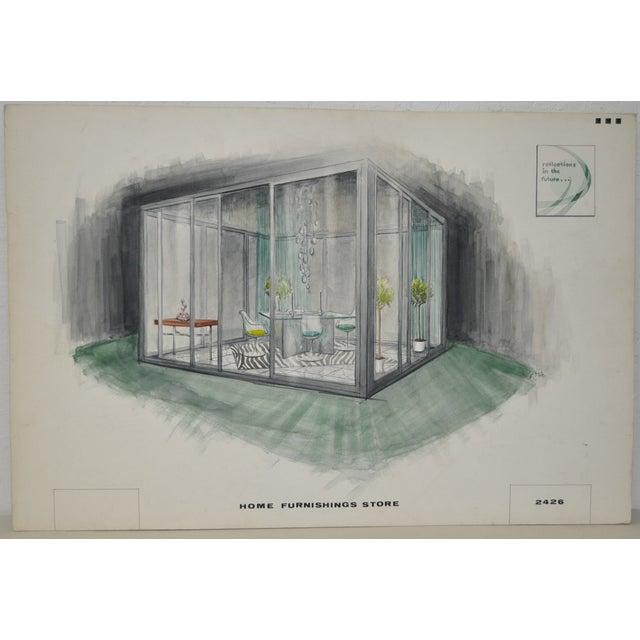 Mid Modern Home Furnishings Illustration C.1950 - Image 1 of 5