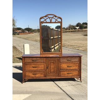 Fretwork Faux Bamboo Cane Dresser by Stanley Preview