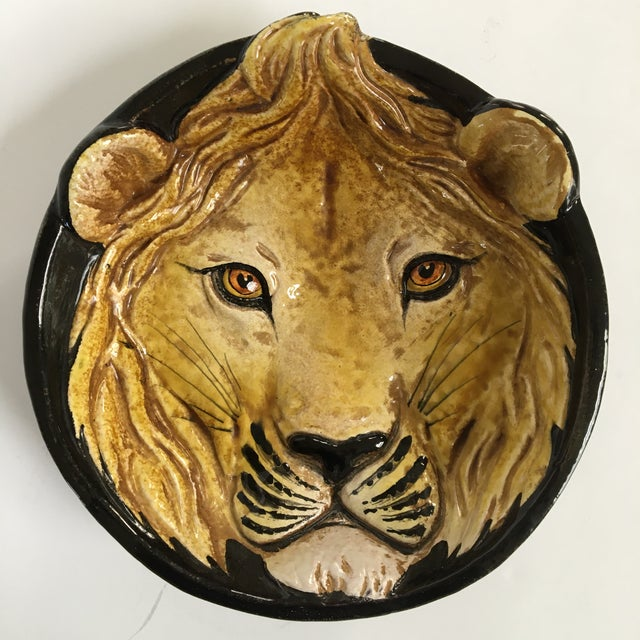 Mid-Century Italian Hollywood Regency Lion Decorative Bowl/Catchall For Sale - Image 10 of 11