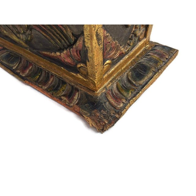 Vintage Balinese Alter Wood Carved Offering Box For Sale - Image 10 of 13
