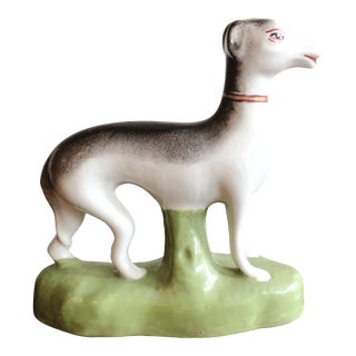 Vintage Ceramic Greyhound Figurine For Sale