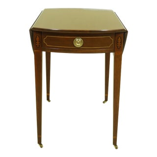 Baker Historic Charleston Inlaid Mahogany Pembroke Table For Sale