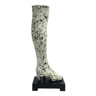 Currey & Co. Modern Glass Mosaic Ladies Boot Table Lamp For Sale