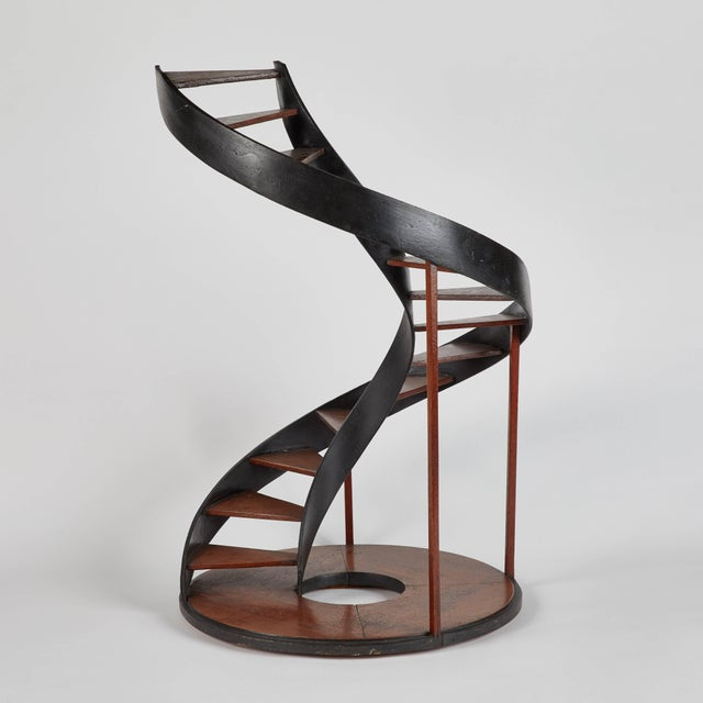 Black Late 19th Century Model of Circular Staircase From France For Sale - Image 8 of 9