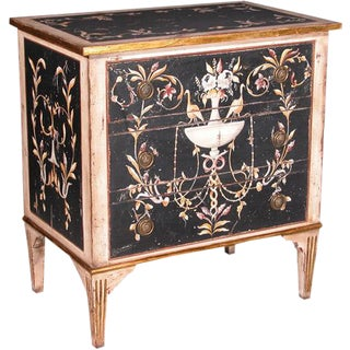 Italian Hand Painted Three Drawer Chest For Sale