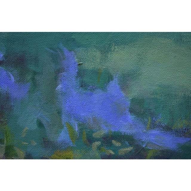 """Stephen Remick Stephen Remick """"Ocean Through the Trees"""" Contemporary Plein Air Painting For Sale - Image 4 of 12"""