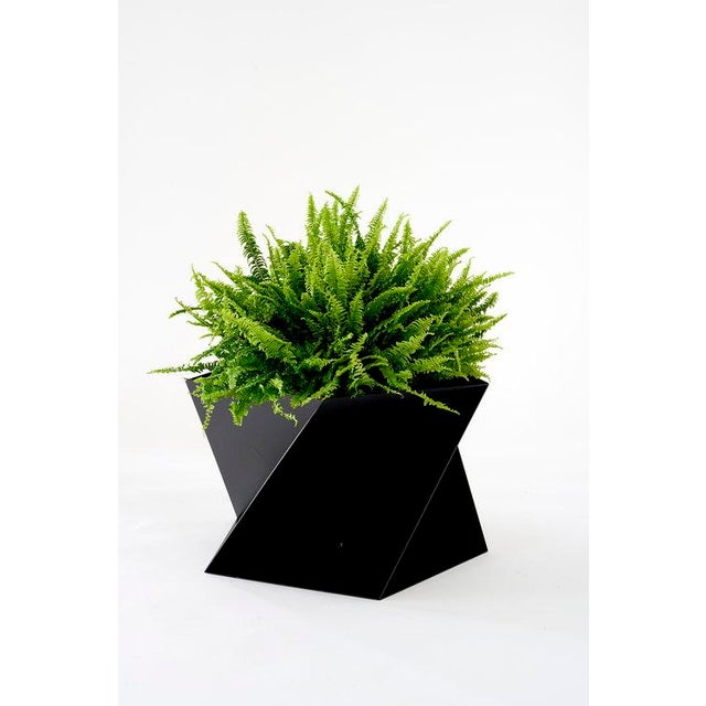 Contemporary Trey Jones Studio Black Pentagami Planter For Sale - Image 3 of 3