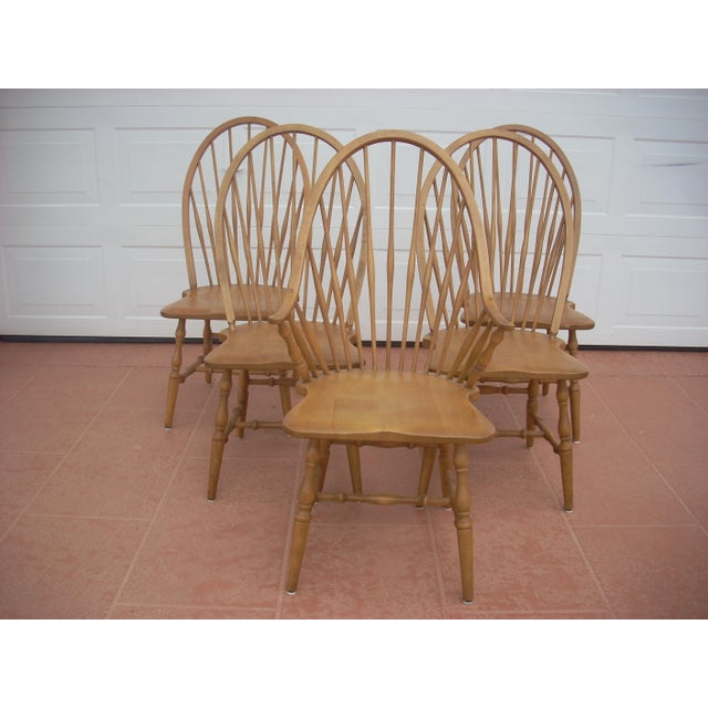 Windsor Maple Dining Chairs - Set of 4 Side Chairs - Image 2 of 5