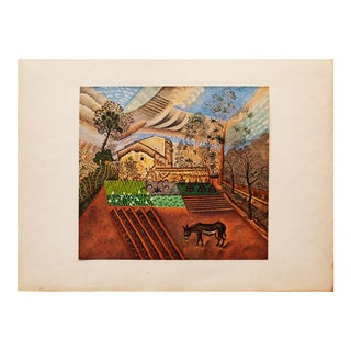 "1940s Juan Miró, ""The Farm"" Original Period Swiss Lithograph For Sale"