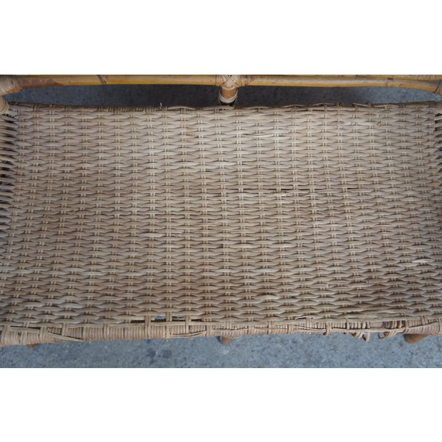 Antique Child's Rattan Cained Bamboo Settee For Sale - Image 6 of 11