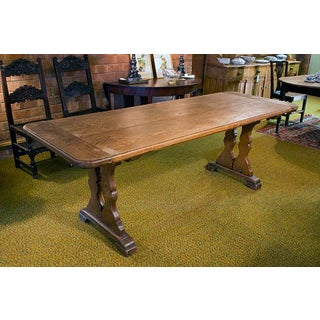 English Elm Plank Top Trestle Table Preview