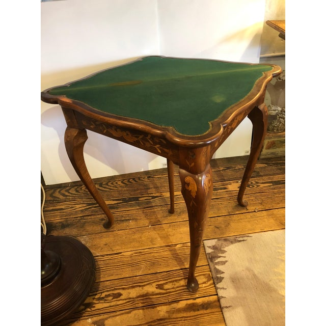 Brown 19th Century Traditional Triangular Mixed Wood Card Table For Sale - Image 8 of 12