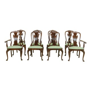 Set of 8 Councill Craftsmen Mahogany Dining Room Chairs For Sale