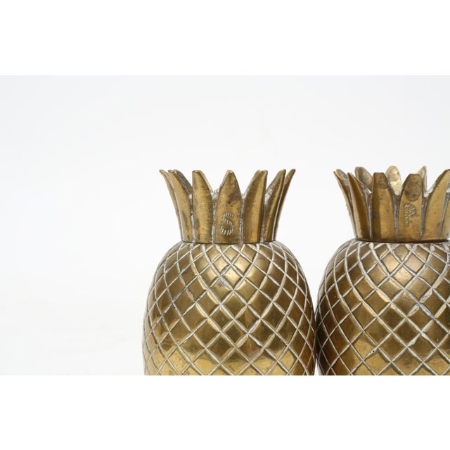 Brass Pineapple Salt & Pepper Shakers - A Pair For Sale In Los Angeles - Image 6 of 9