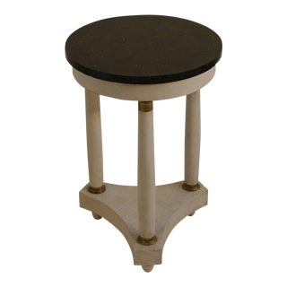 Empire Tripod Pedestal Table with Black Marble Top For Sale