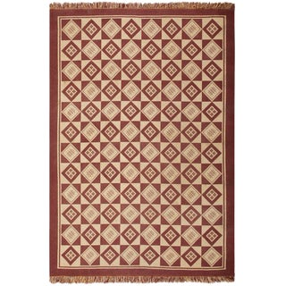 Vintage Mid-Century Swedish Double-Sided Kilim Rug - 6′4″ × 9′2″ For Sale