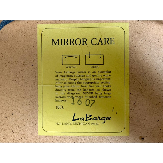 Glass Federal Style Convex Mirror by LaBarge For Sale - Image 7 of 10