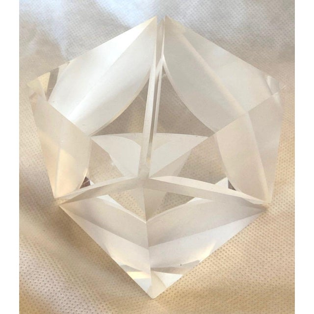 Acrylic 1970s Italian Alessio Tasca Lucite Cube For Sale - Image 7 of 13