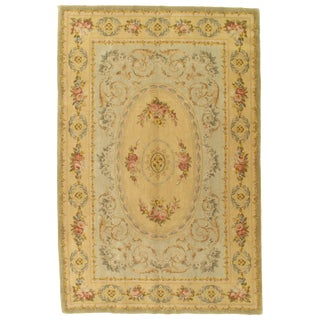 "Pasargad N Y Savonnerie Abusun Rug - 5′11"" X 8′11″ For Sale"