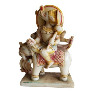 1930s Indian Marble Deity Statue For Sale
