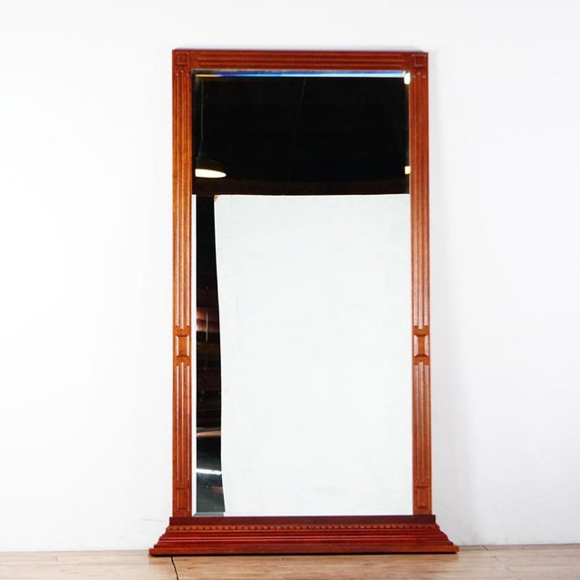 Large Regency Wood Framed Mirror | Chairish