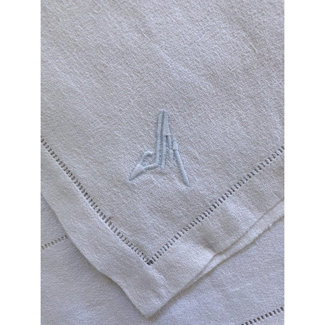 French French Linen Tablecloth & Napkins - Set of 7 For Sale - Image 3 of 8