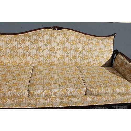 White Traditional Carved Asian Chinoiserie Sofa For Sale - Image 8 of 11