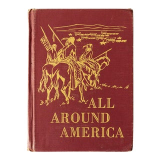 """All Around America"" Vintage Children's Book For Sale"