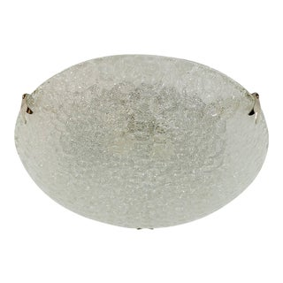 Textured Flush Mount with Chrome Hardware by Hustadt Leuchten For Sale