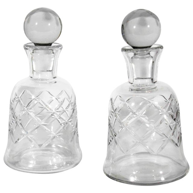 Baccarat Pair of Baccarat Decanters For Sale - Image 4 of 4