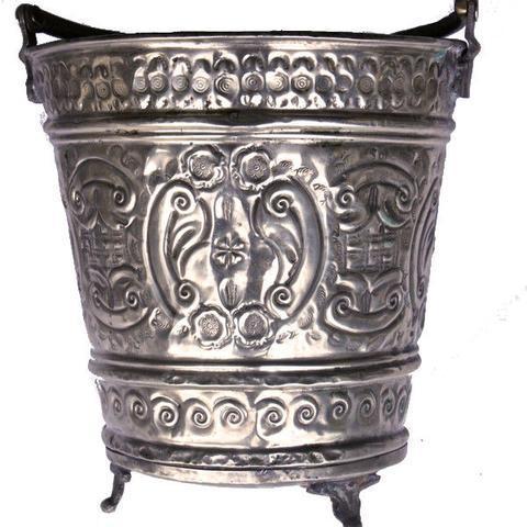 Vintage Hammam Bucket For Sale - Image 4 of 4