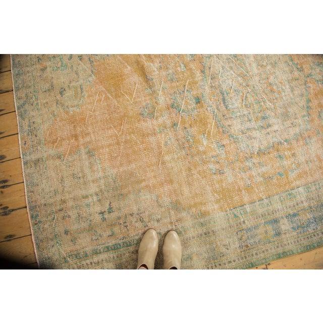 "Vintage Distressed Oushak Carpet - 6'3"" X 8'6"" - Image 6 of 11"