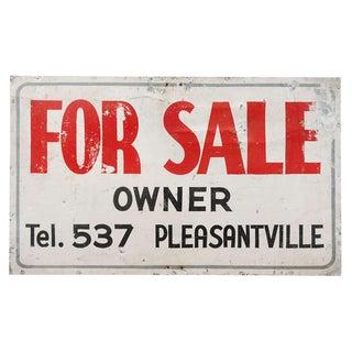 Vintage For Sale Sign For Sale