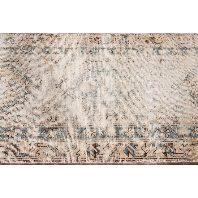 "Tan Apadana-Antique Persian Distressed Rug, 3'1"" X 10'1"" For Sale - Image 8 of 9"