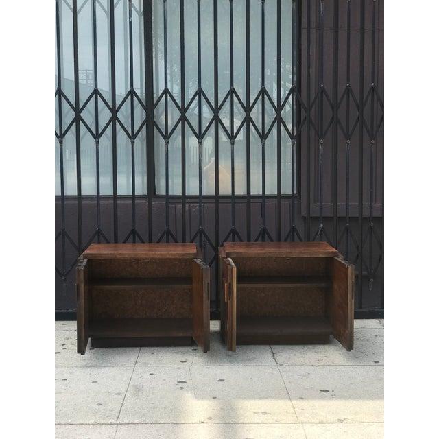 Pair of Brutalist Mid Century Modern Nightstands by Lane - Image 4 of 11