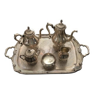 Vintage 1847 Rogers Bros. Remembrance Coffee and Tea Service - Set of 6 For Sale