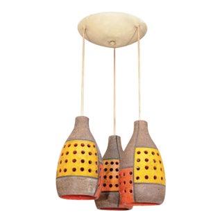1960's Aldo Londi Raymor Pottery Hanging Pendent Lights
