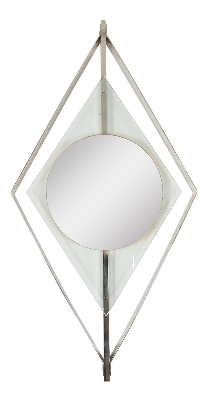 Diamond Shaped Floating Surround Mirror Chairish