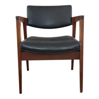 Mid Century Gunlocke Dark Gray Chair For Sale