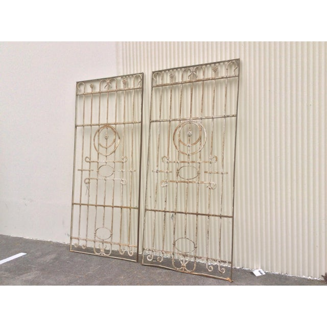 Americana Pair Antique Iron Gates - A Pair For Sale - Image 3 of 10