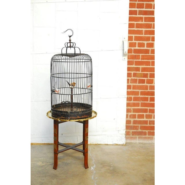 Antique Chinese Domed Bamboo Bird Cage For Sale - Image 9 of 11