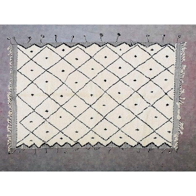Alabaster Vintage Berber Moroccan Rug For Sale - Image 8 of 10