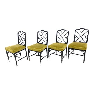 Vintage Carlisle Bamboo Style Chairs - Set of 4 For Sale
