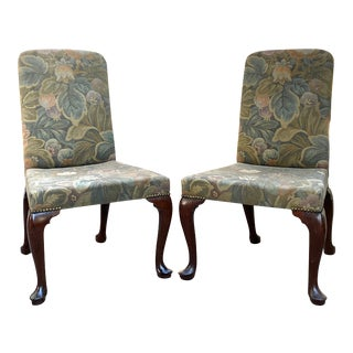 George II Walnut Side Chairs - a Pair For Sale