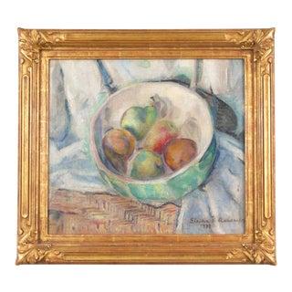 'Still Life of Pears' by Eleida Bosler Ashcraft, 1932; Post-Impressionist Woman Artist For Sale