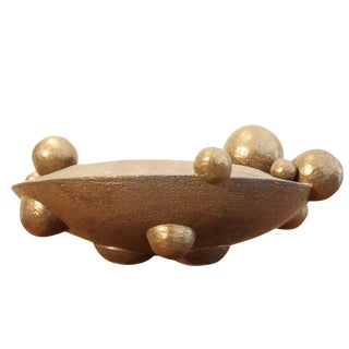 Contemporary Bronze Orb Vessel For Sale